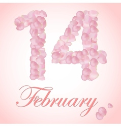 beautiful heart of pink rose petals vector image