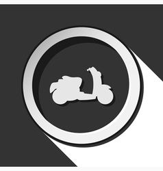 icon - scooter with shadow vector image