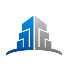 city building construction abstract logo vector image vector image