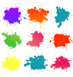 colorful paint splat vector image vector image