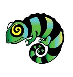 Decorative chameleon vector