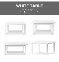 Empty white plastic table set isolated on white vector