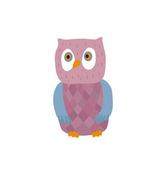 Funny owl personage vector