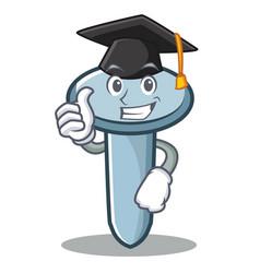 graduation nail character cartoon style vector image vector image