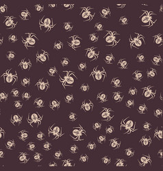halloween spider background seamless vector image