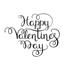 happy valentines day letterin vector image