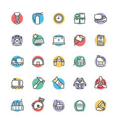 Industrial Cool Icons 4 vector image