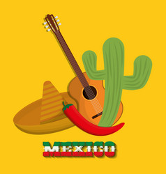 Mexico design culture icon colorful vector