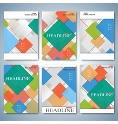 Modern set of brochures magazine flyer vector image