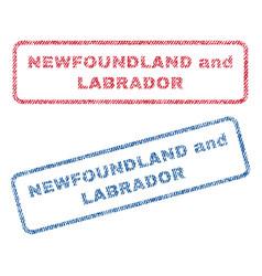 Newfoundland and labrador textile stamps vector