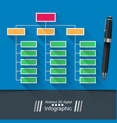 Office infographic pin icon vector