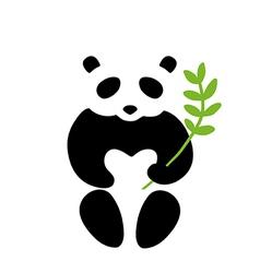 Panda symbol vector image