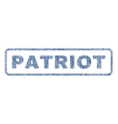Patriot textile stamp vector