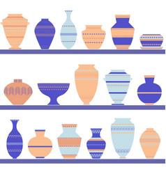 Pottery icon set vector