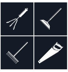 Set of black farming icons vector