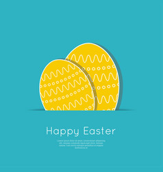 Set of easter eggs with stripes polka dot vector