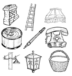 Set of home related vector