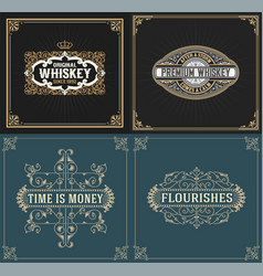 Set of vintage and western labels vector
