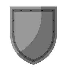 shield badge icon vector image vector image