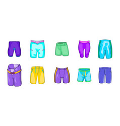 shorts icon set cartoon style vector image
