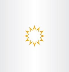 sun star yellow icon logo design vector image vector image