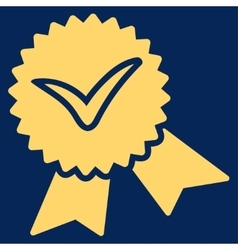 Validation seal icon from competition success vector