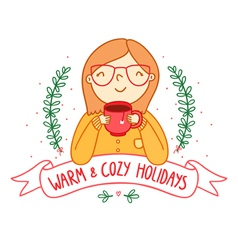 Warm and cozy vector image vector image