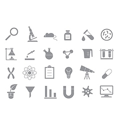 Laboratory gray icons set vector image