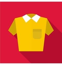 Polo shirt icon flat style vector image