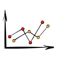 arrow graph icon icon cartoon vector image