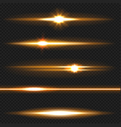 Orange laser beams pack vector