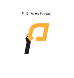 Creative f letter icon abstract logo design vector