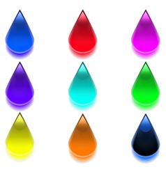 Multicolored drops vector