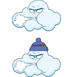 Weather cartoons vector