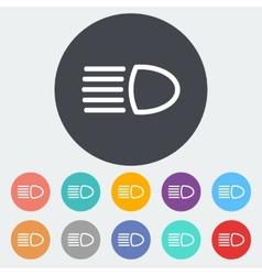 Headlight icon vector image
