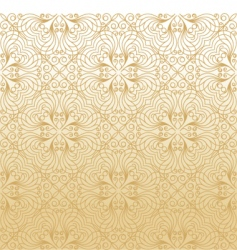 damask gold background vector image
