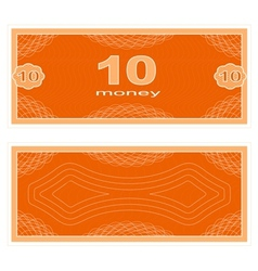 Play money ten vector