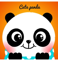 Cute little panda close-up vector