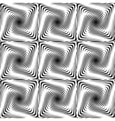 Design seamless monochrome twisting pattern vector