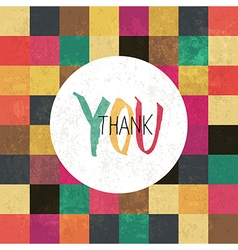 Aged thank you card vector