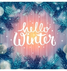 Hello winter holiday background christmas vector
