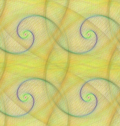 Yellow seamless spiral fractal pattern design vector