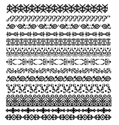 Border decoration elements pattern vector image
