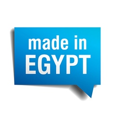 made in Egypt blue 3d realistic speech bubble vector image