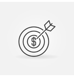 Money goal icon vector