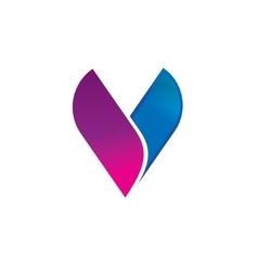 Abstract letter V logo template elegant vector image