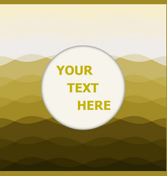 Abstract yellow background with curve lines vector