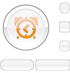 Alarm-clock white button vector