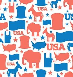 American seamless pattern USA Election Symbols vector image vector image