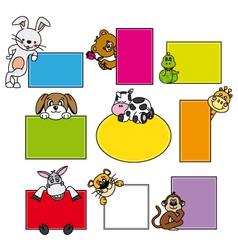Animal stickers vector
